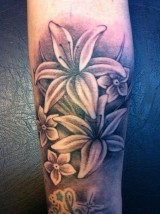 Tattoo tatoeage lelies lily