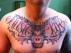 Tattoo tatoeage music chestpiece