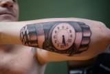 Tattoo tatoeage pennywise onderarm