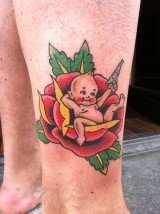 Tattoo traditional baby gun