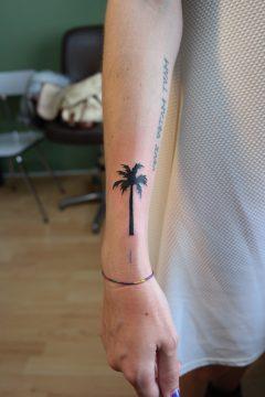 Tattoo palmboom