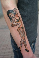 Tattoo pin-up